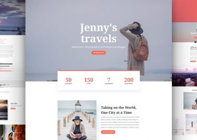 Travel Blog Layout
