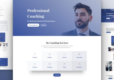 Business Coach Layout